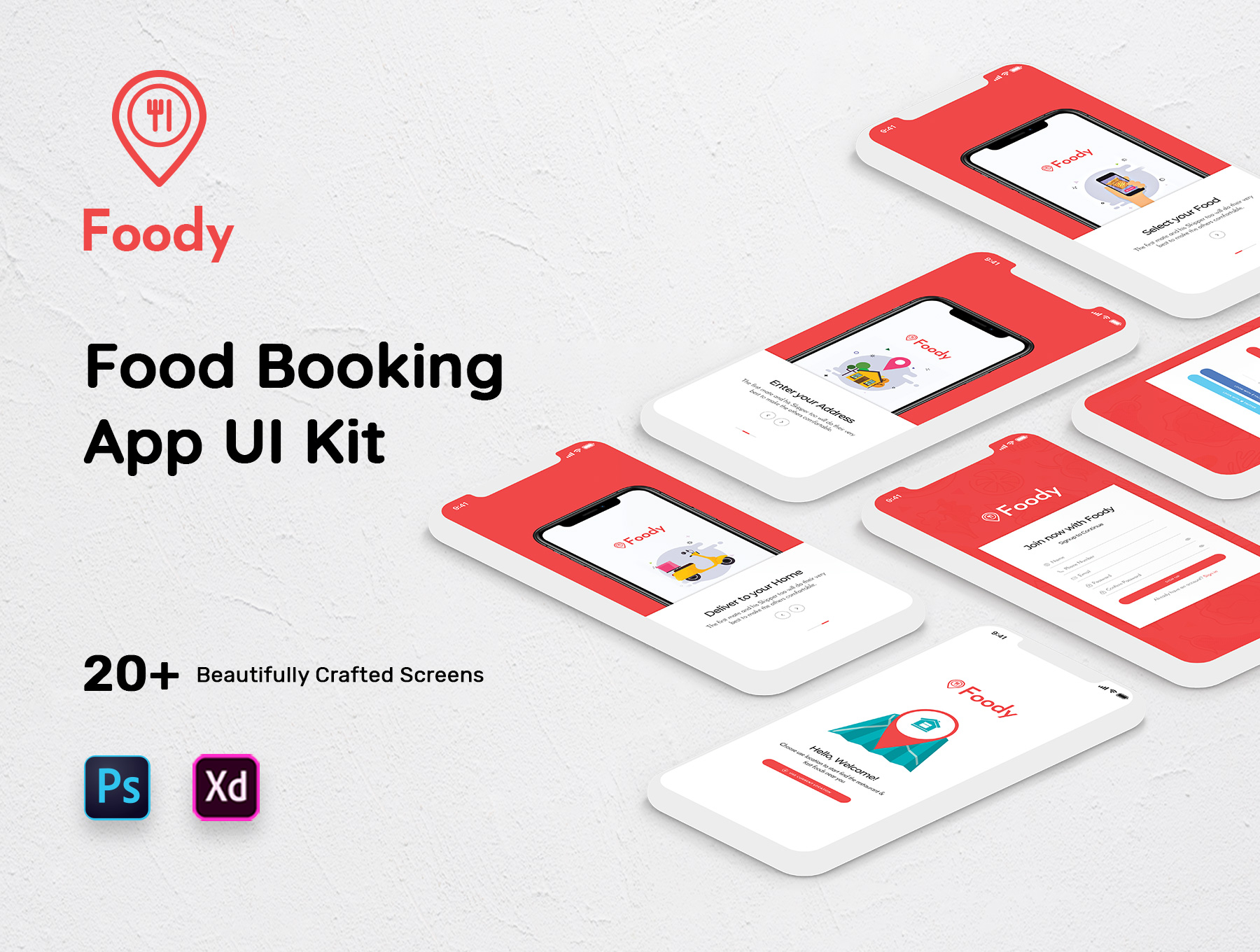 Foody Mobile App UI Kit