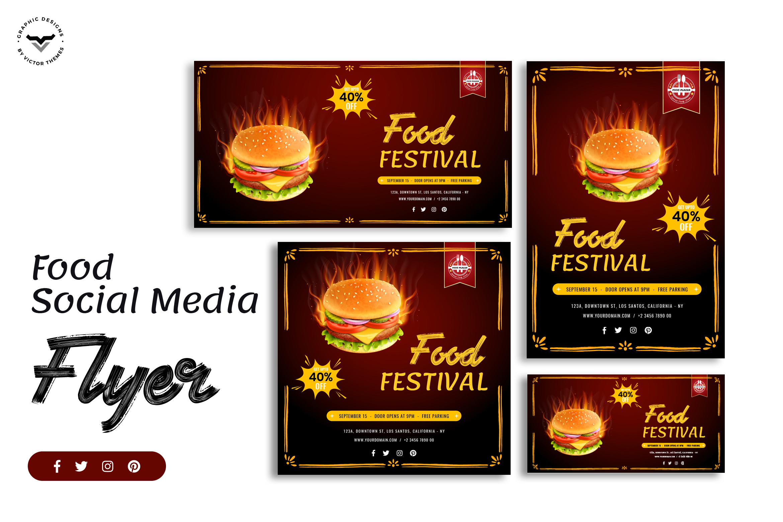 Fast Food Social Media Template