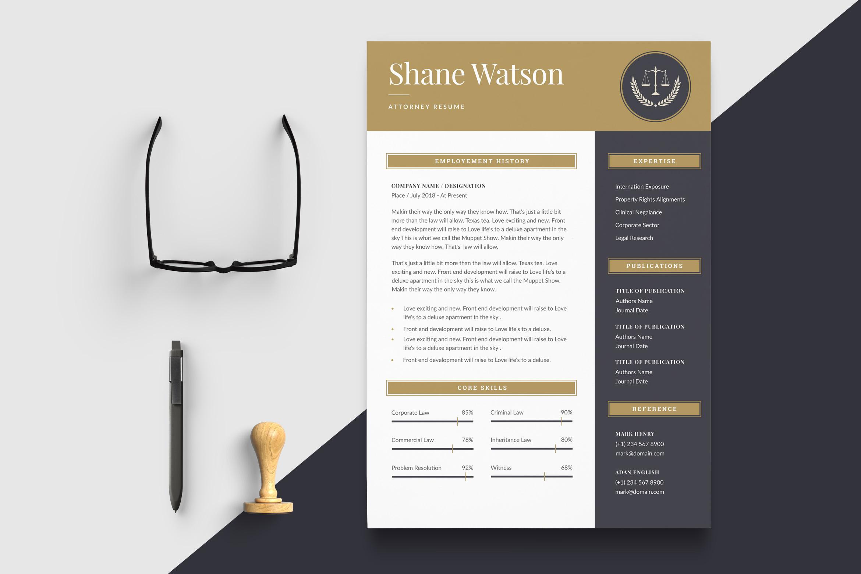 Lawyer CV Template