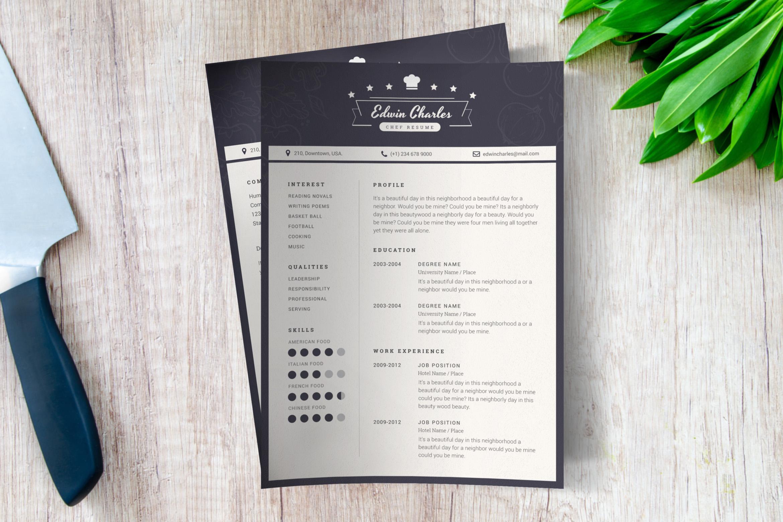 Chef CV Template