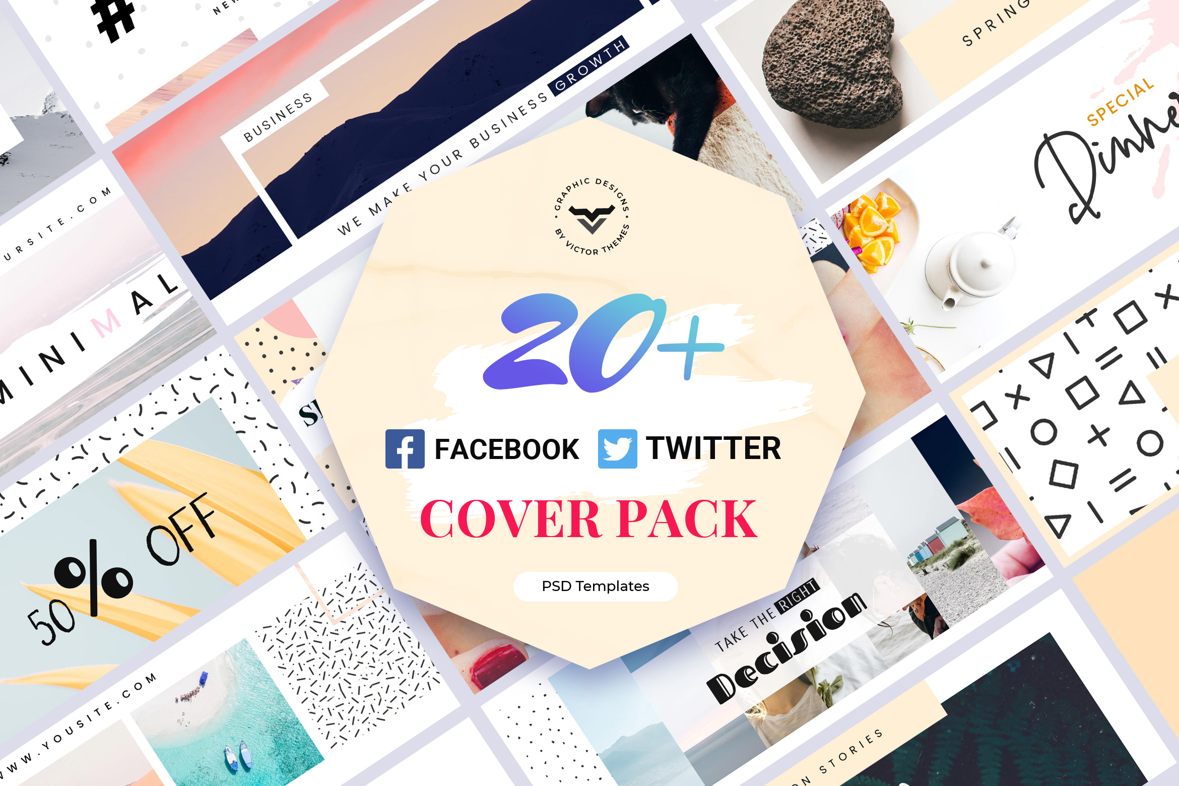 Facebook & Twitter Cover Template