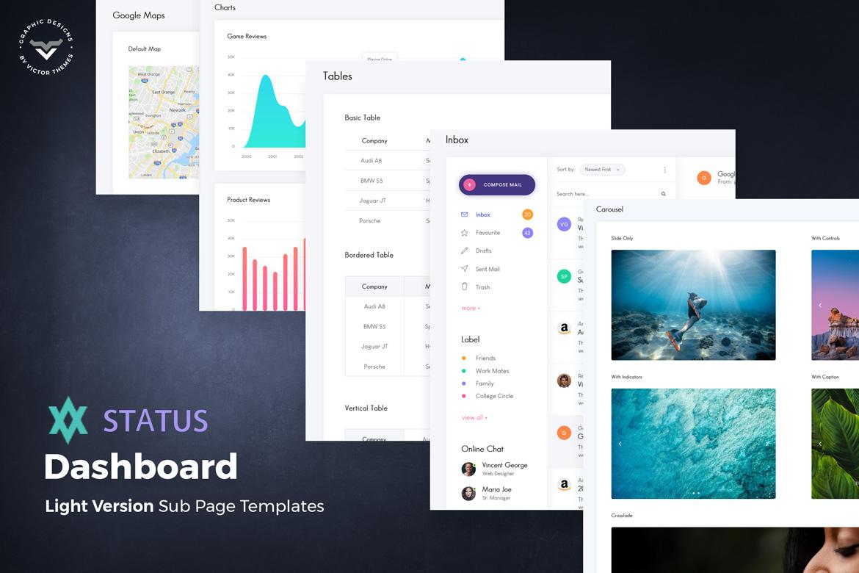Status – Admin Dashboard PSD Template
