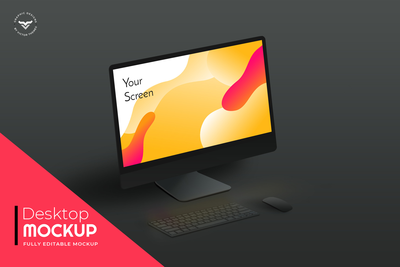 Desktop Mockups Black