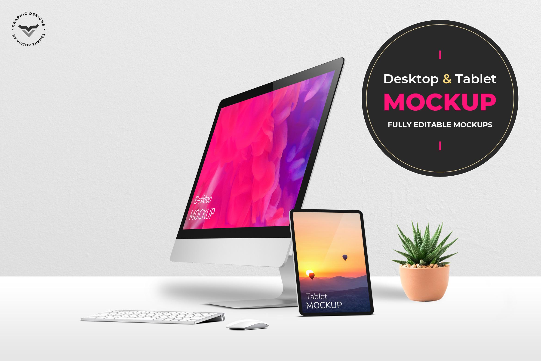 Desktop and Tablets Mockups