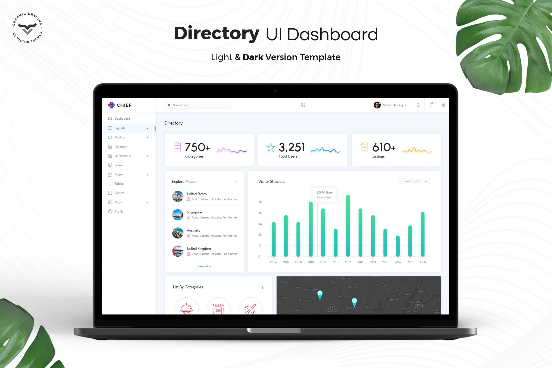 Directory Admin Dashboard UI Kit