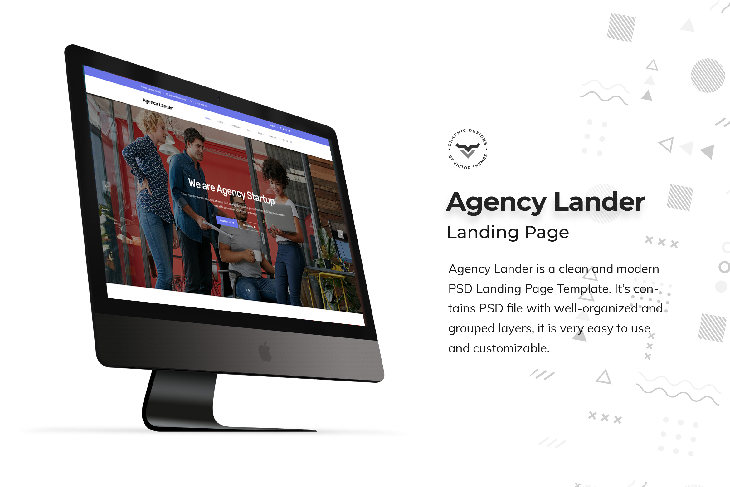 Agency Landing Page PSD Templates