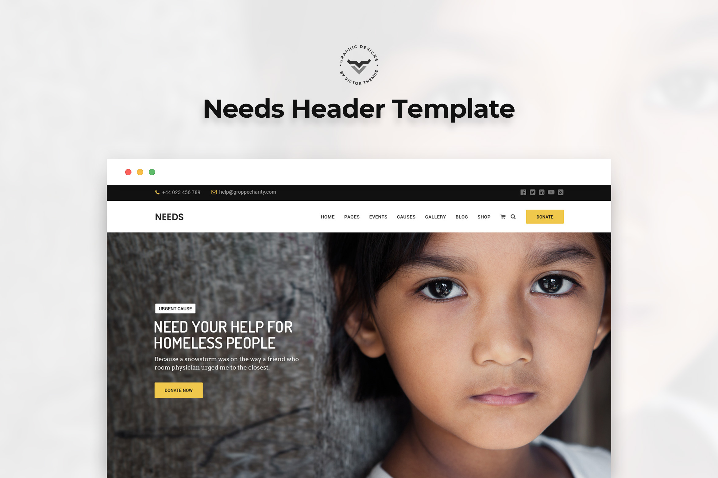 Charity Landing Page PSD Templates