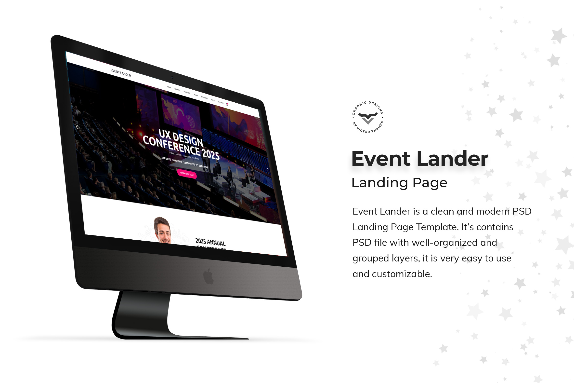 Event Landing Page PSD Templates