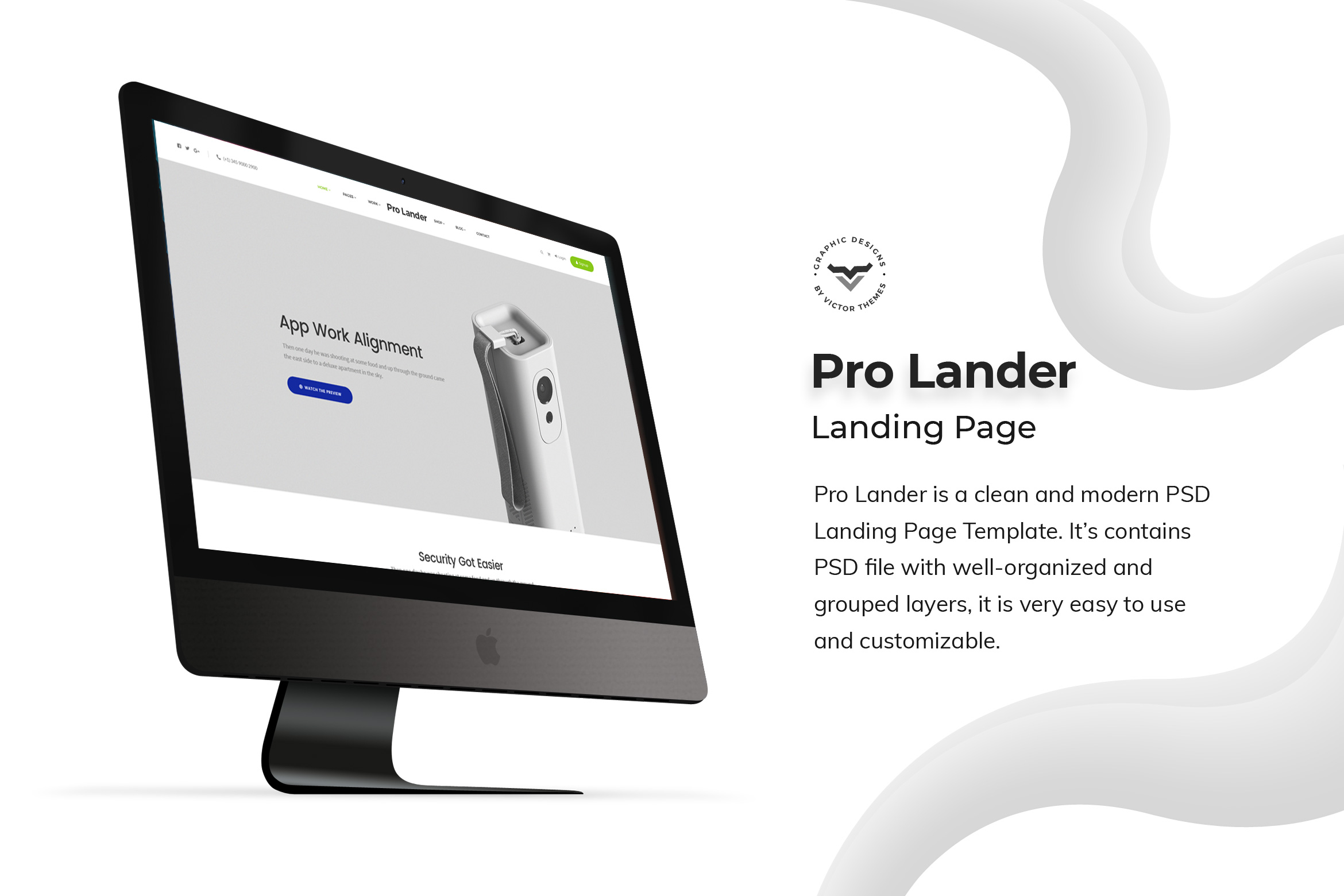 Product Landing Page PSD Templates