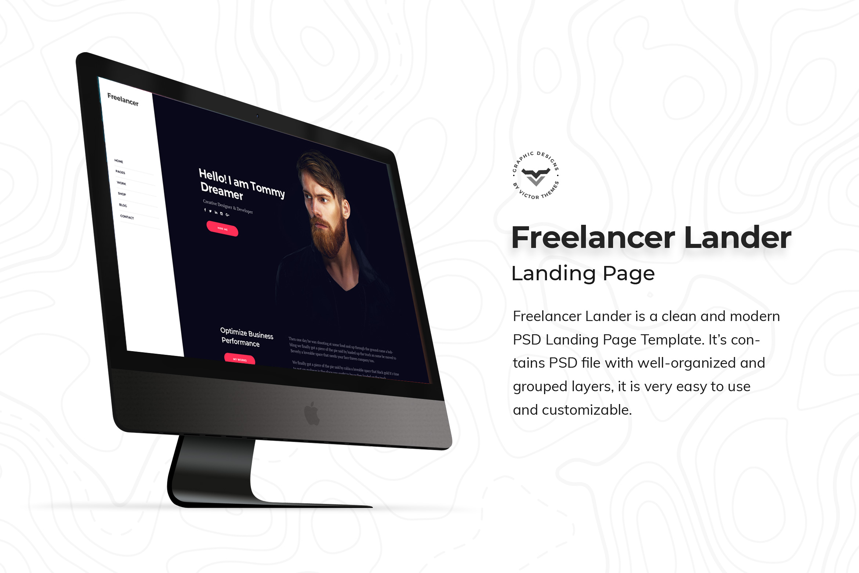 Freelancer Landing Page PSD Template