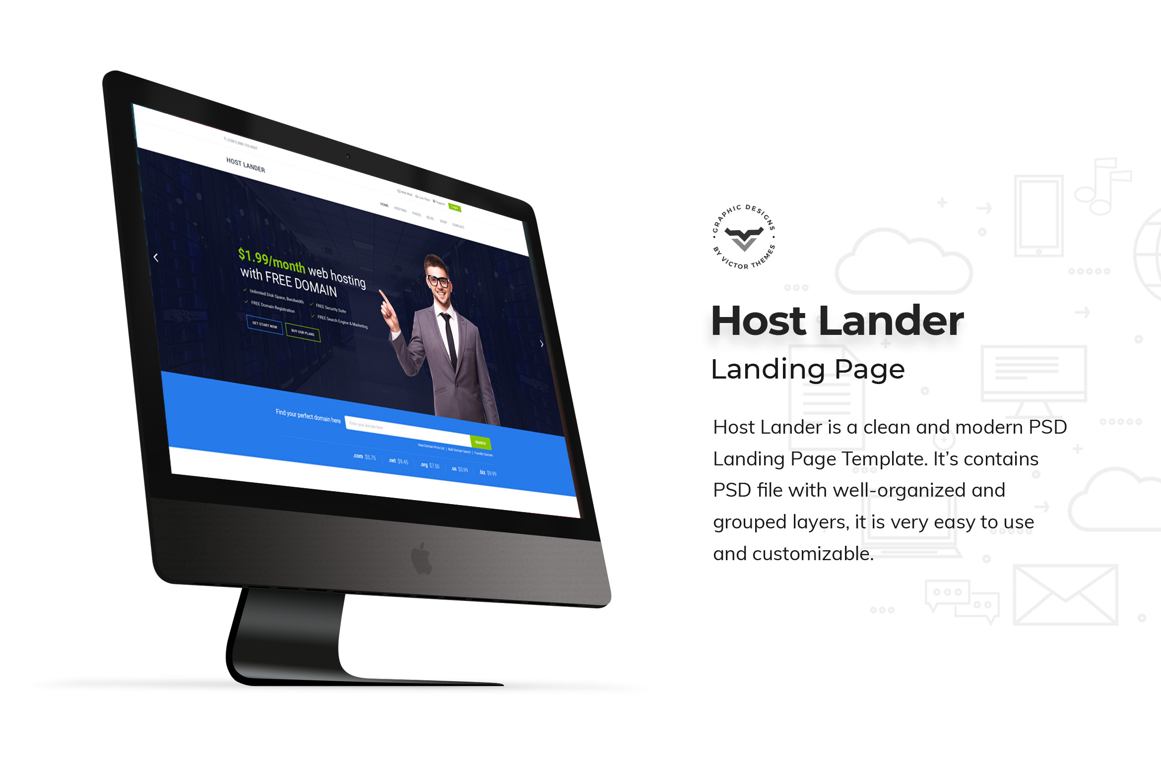 Hosting Landing Page PSD Templates