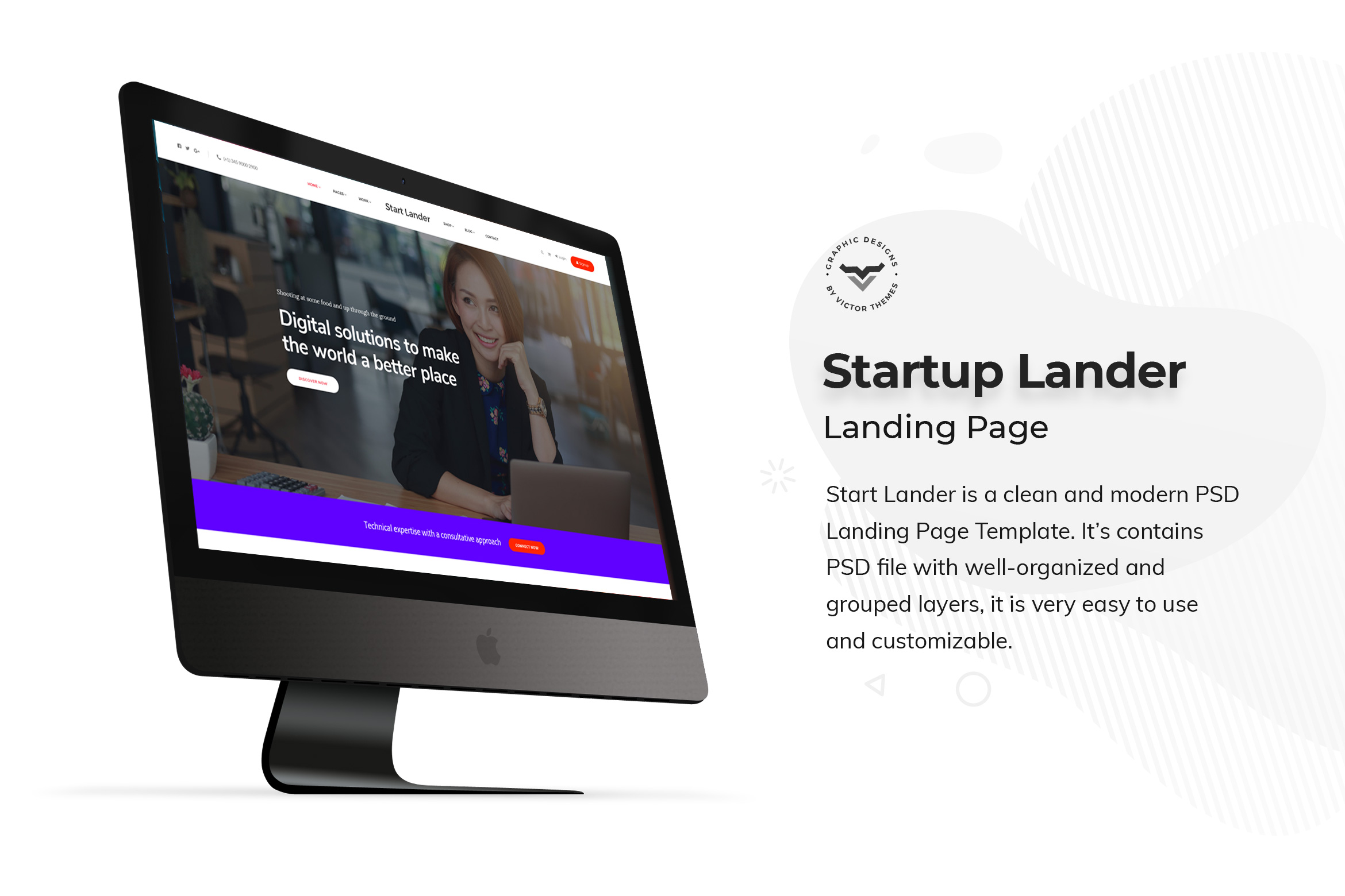 Startup Landing Page PSD Templates