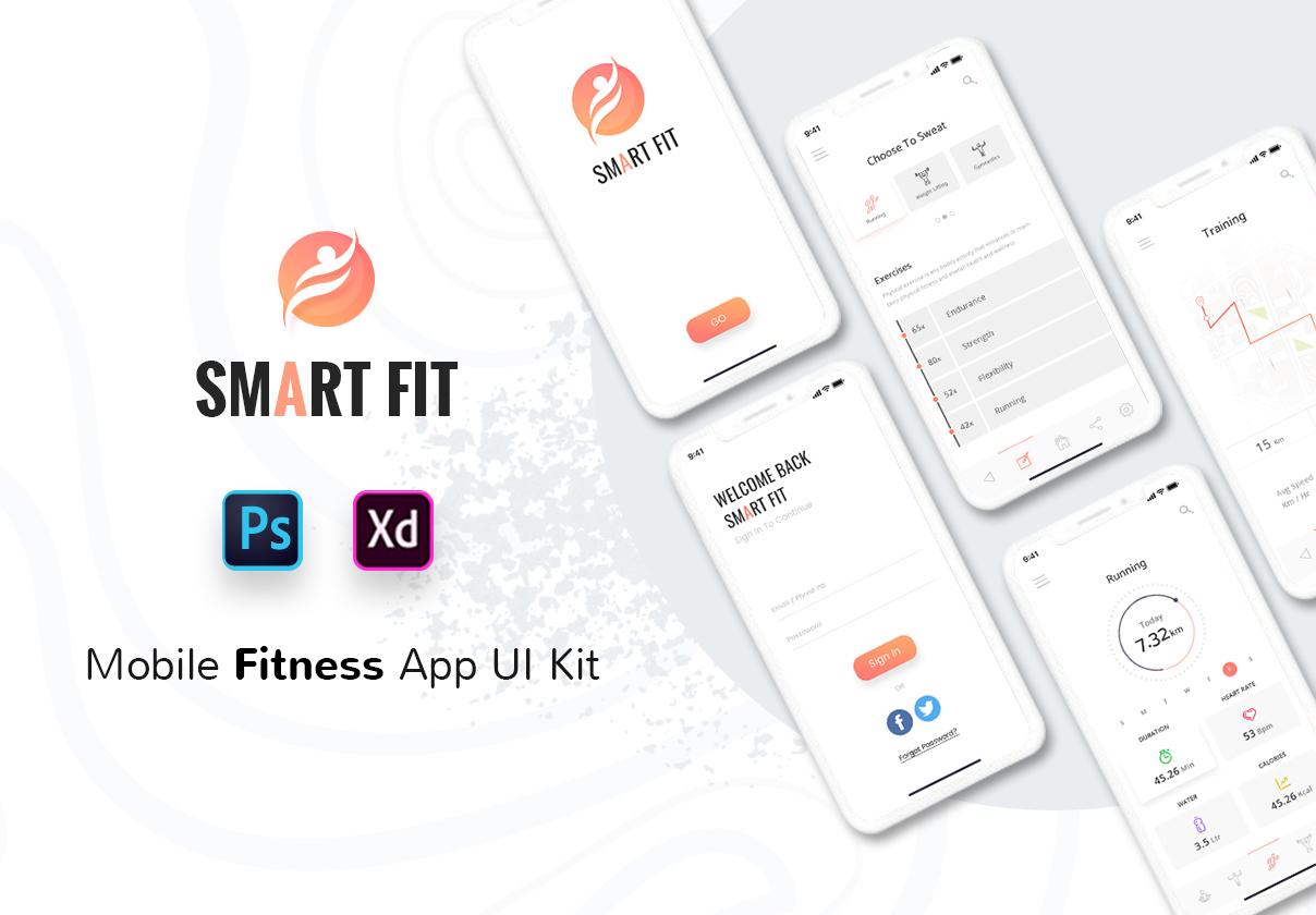 Smart Fit Mobile App UI Kit