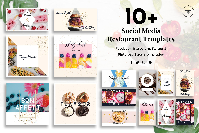Social Media Restaurant Templates