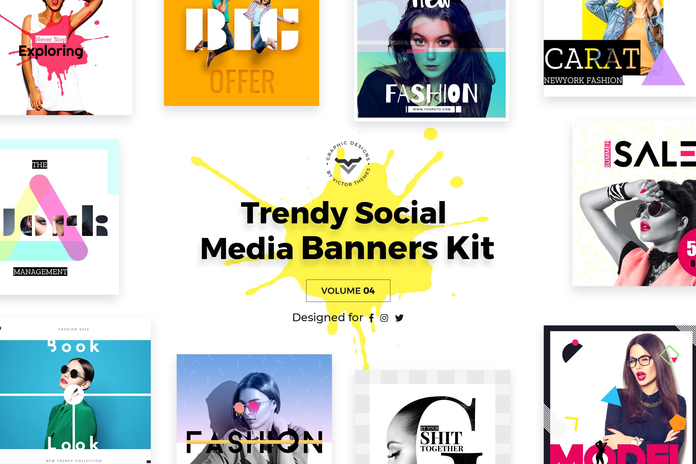 Trendy Social Media Banners Pack IV