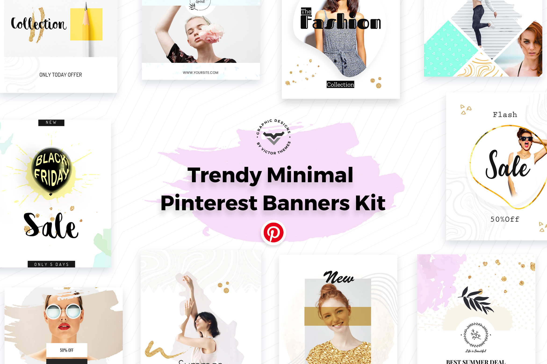 Pinterest Social Media Banners Kit