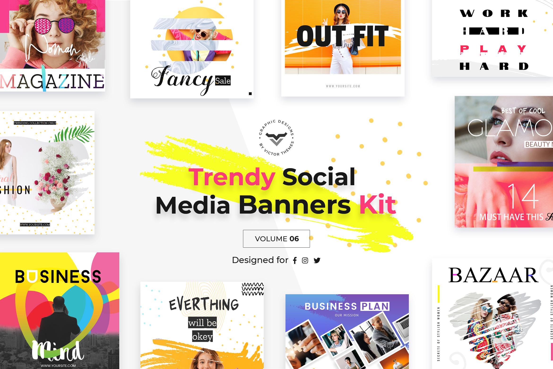 Trendy Social Media Banners Pack VI