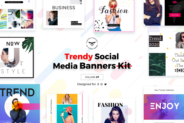 Trendy Social Media Banners Pack VII