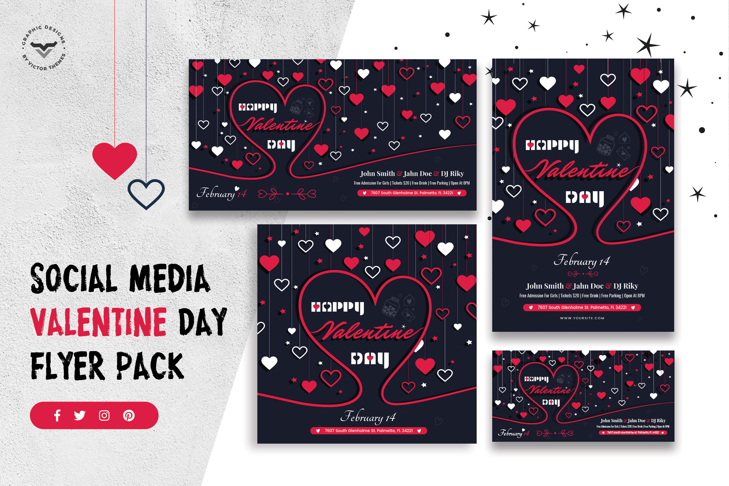 Valentines Day Social Media Template
