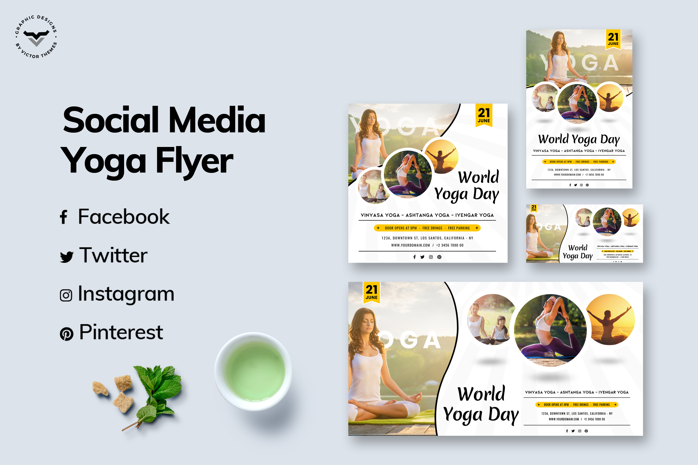 Yoga Social Media Templates