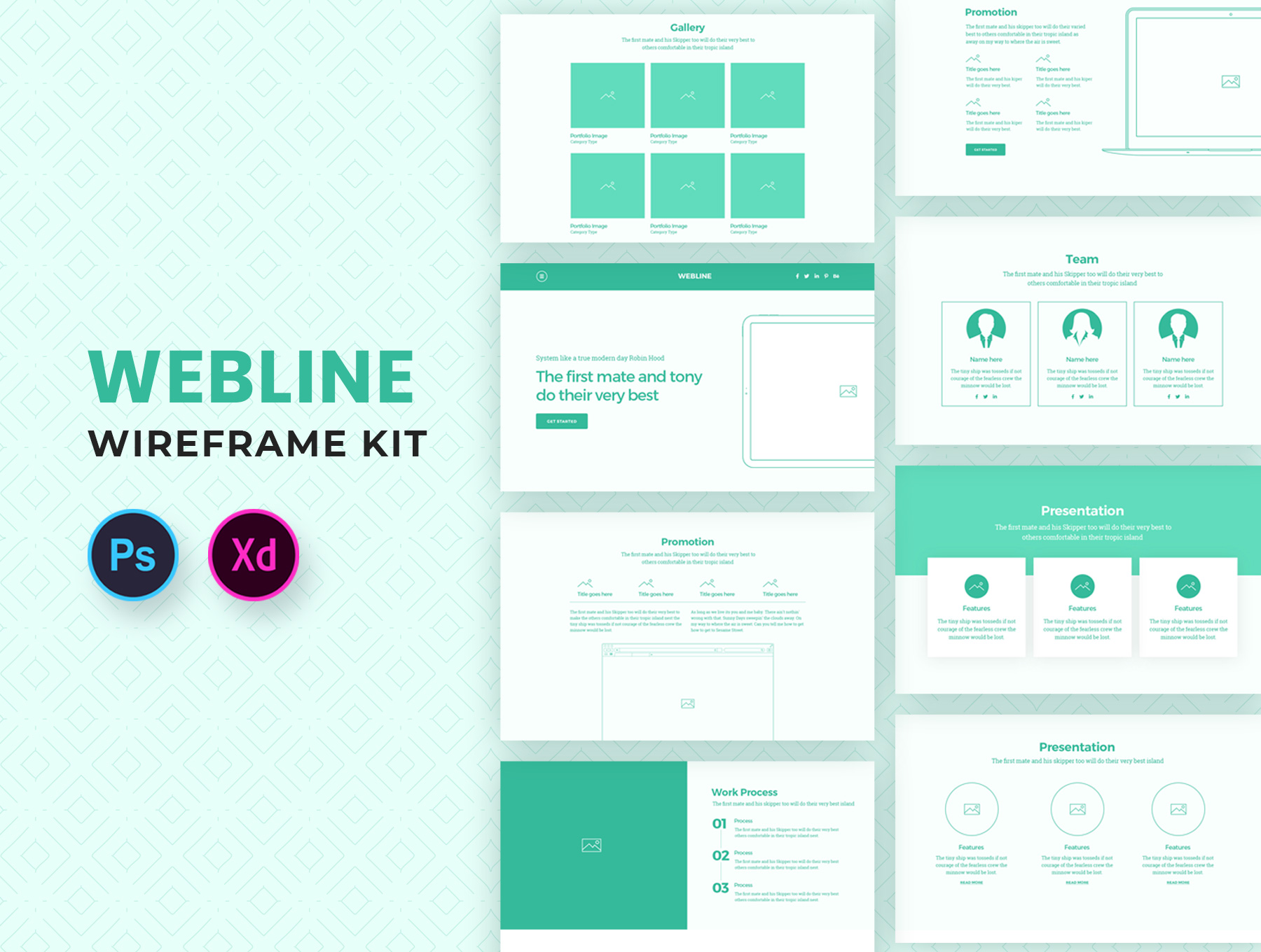 Webline-Wireframe