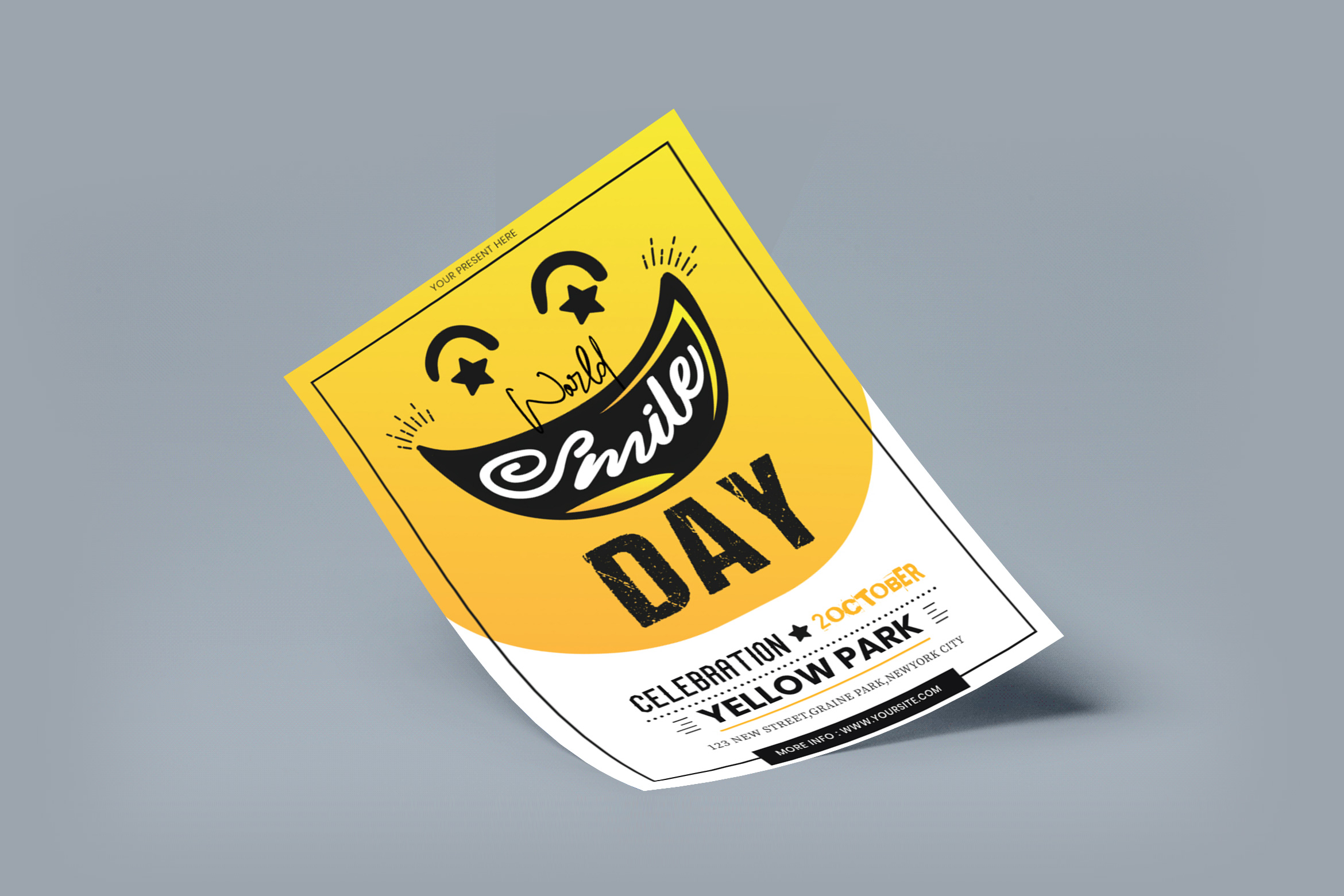 International Smile Day Flyer Template
