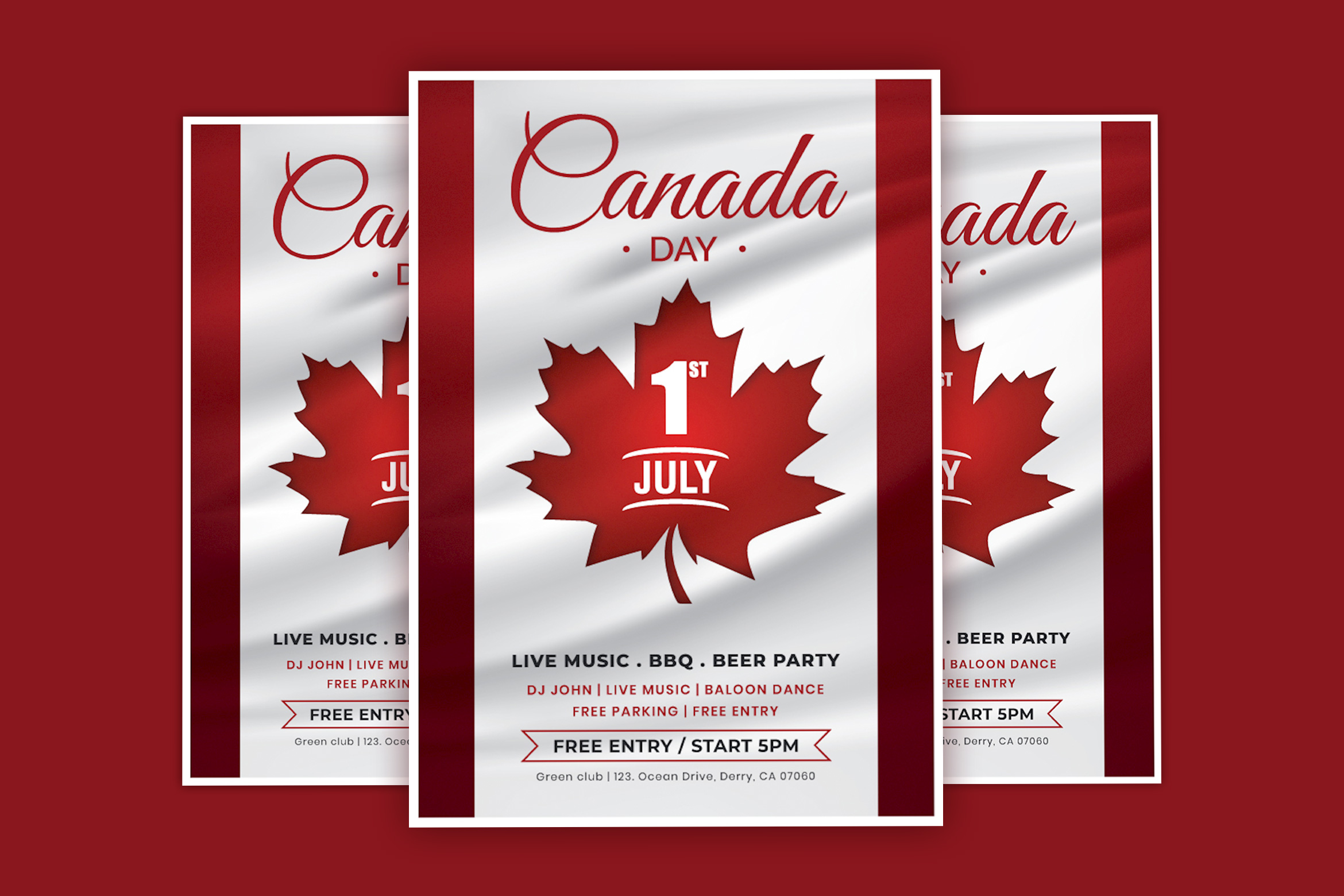 Canada Day Flyer/Poster Template