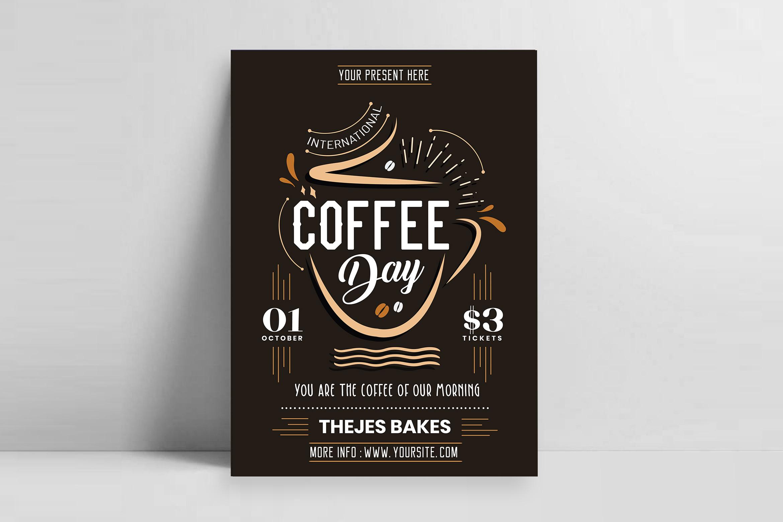 International Coffee Day Flyer Template