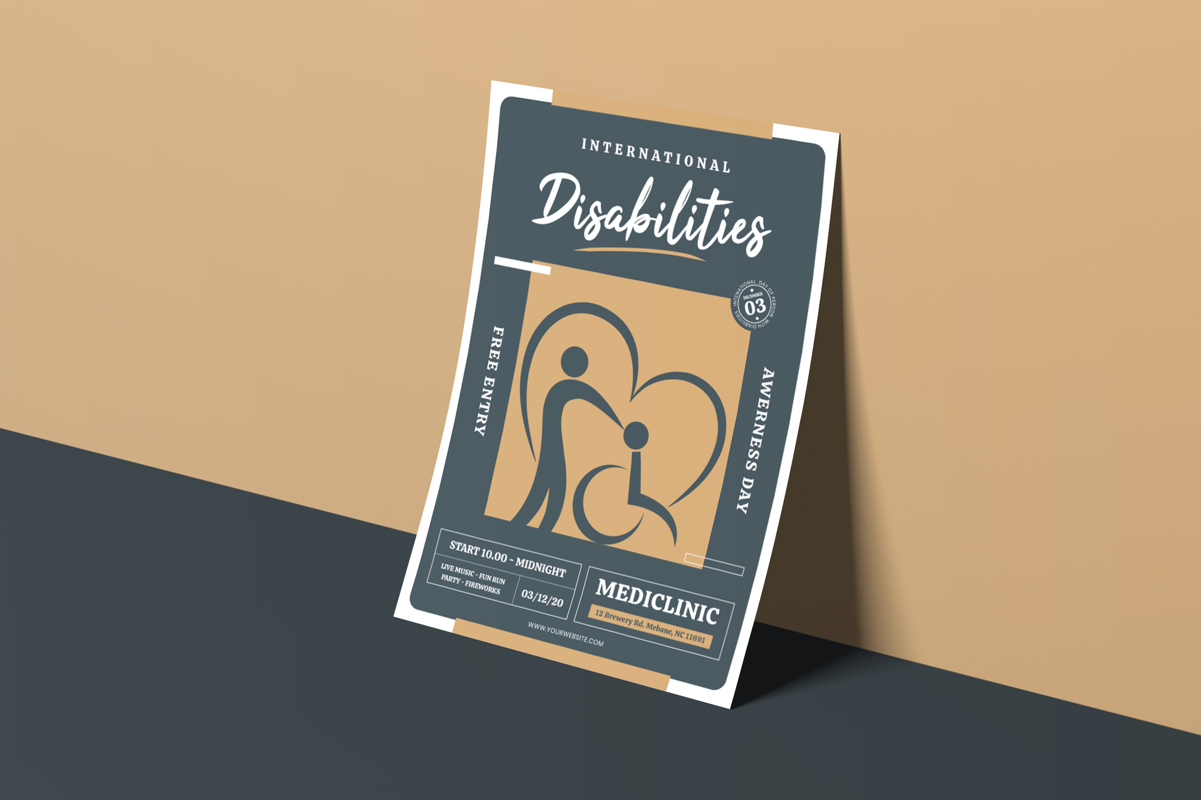 Disability Day Flyer Template