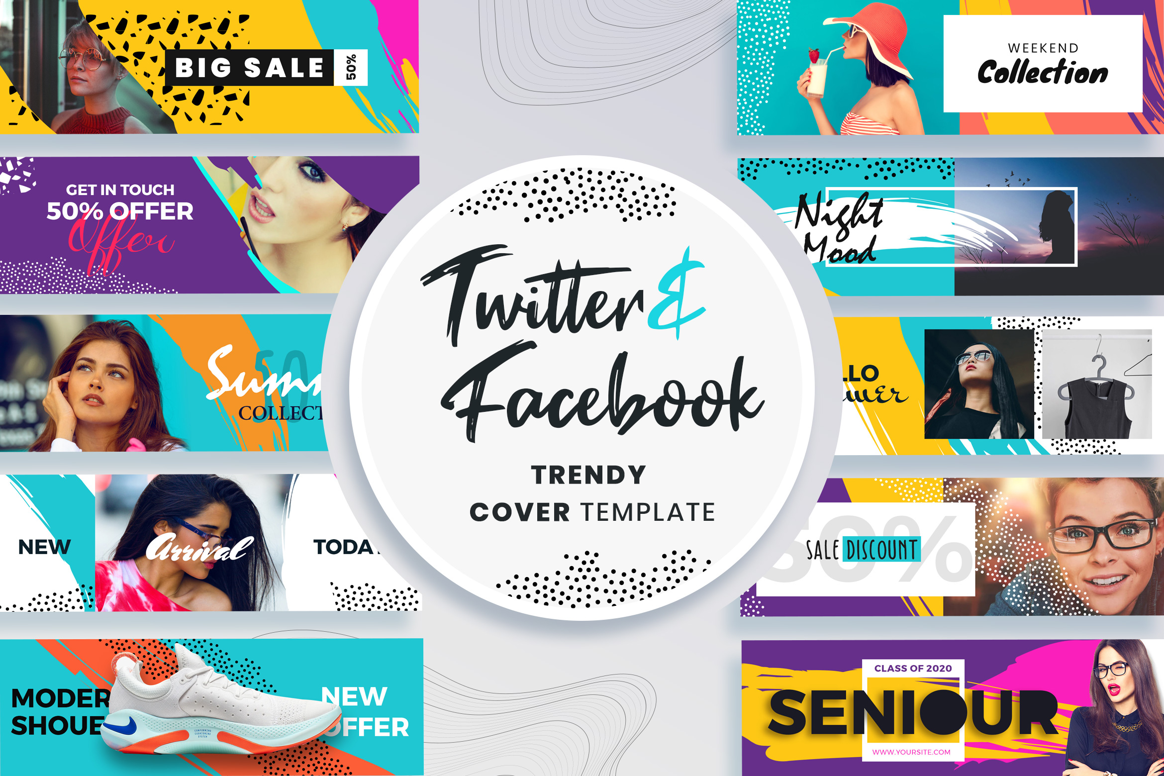 Facebook & Twitter Cover Templates