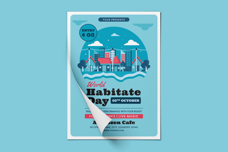 World Habitat Day Flyer Template
