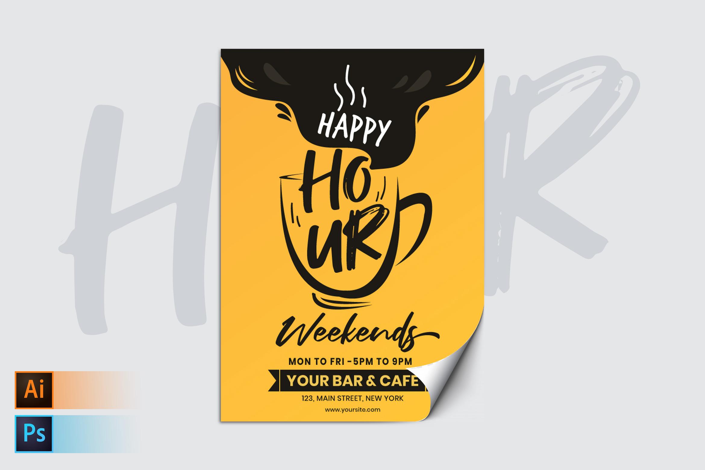 Happy Hour Weekends Flyer/Poster Template
