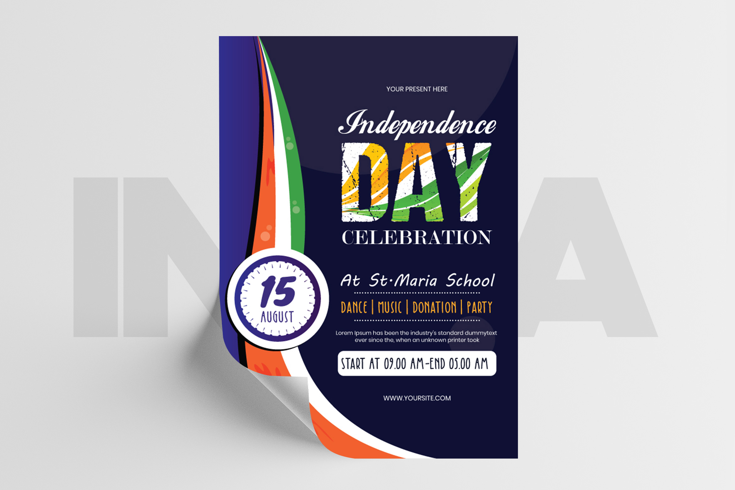 India Independence Day Flyer Template