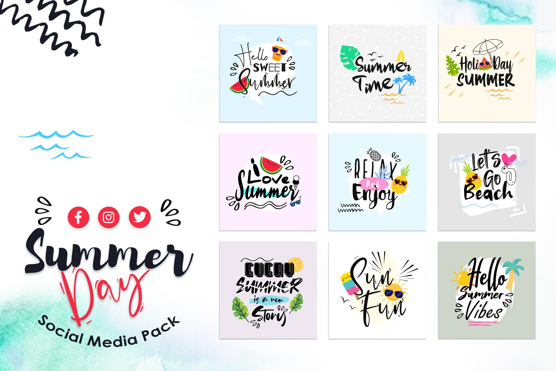 Summer Day Social Media Template