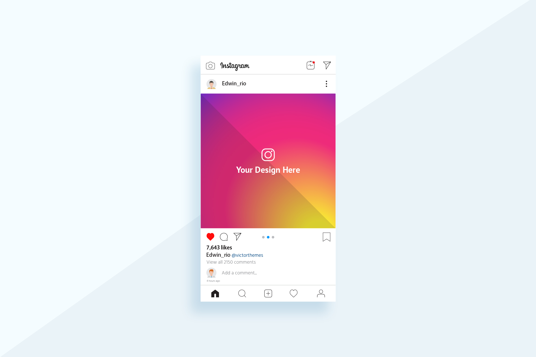Instagram Post Mobile Mockup