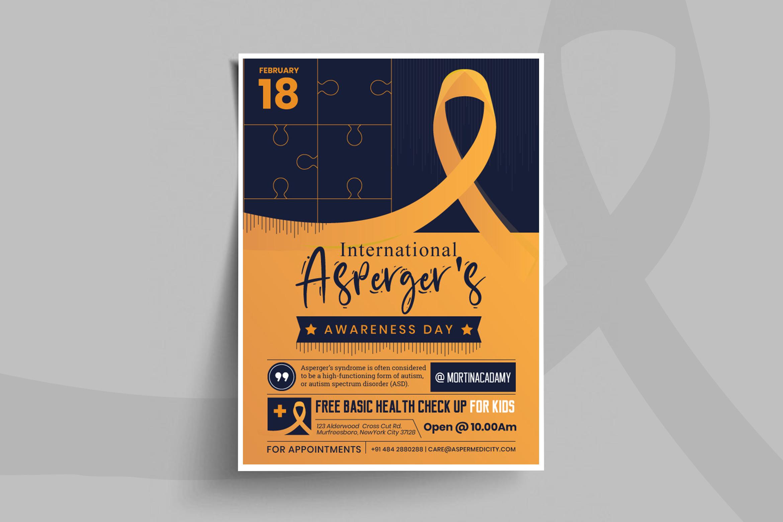 International Asperger Day Flyer Template
