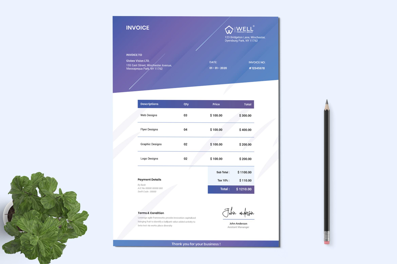Minimal Invoice Template