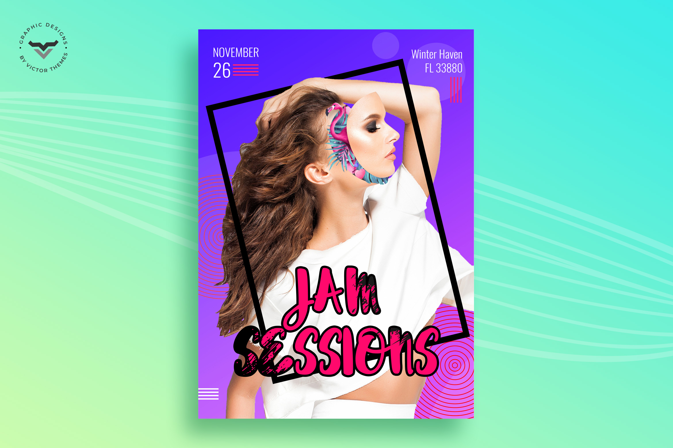 Jas Session Fashion Flyer/Poster