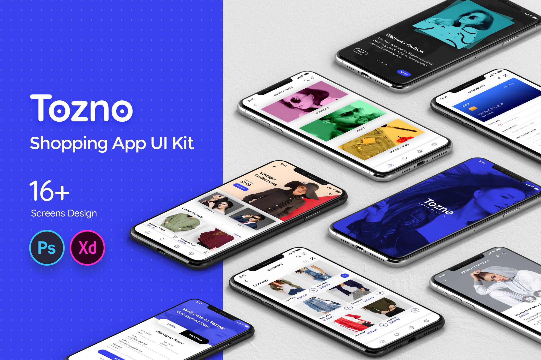 Tozno Shopping Mobile App UI Kit