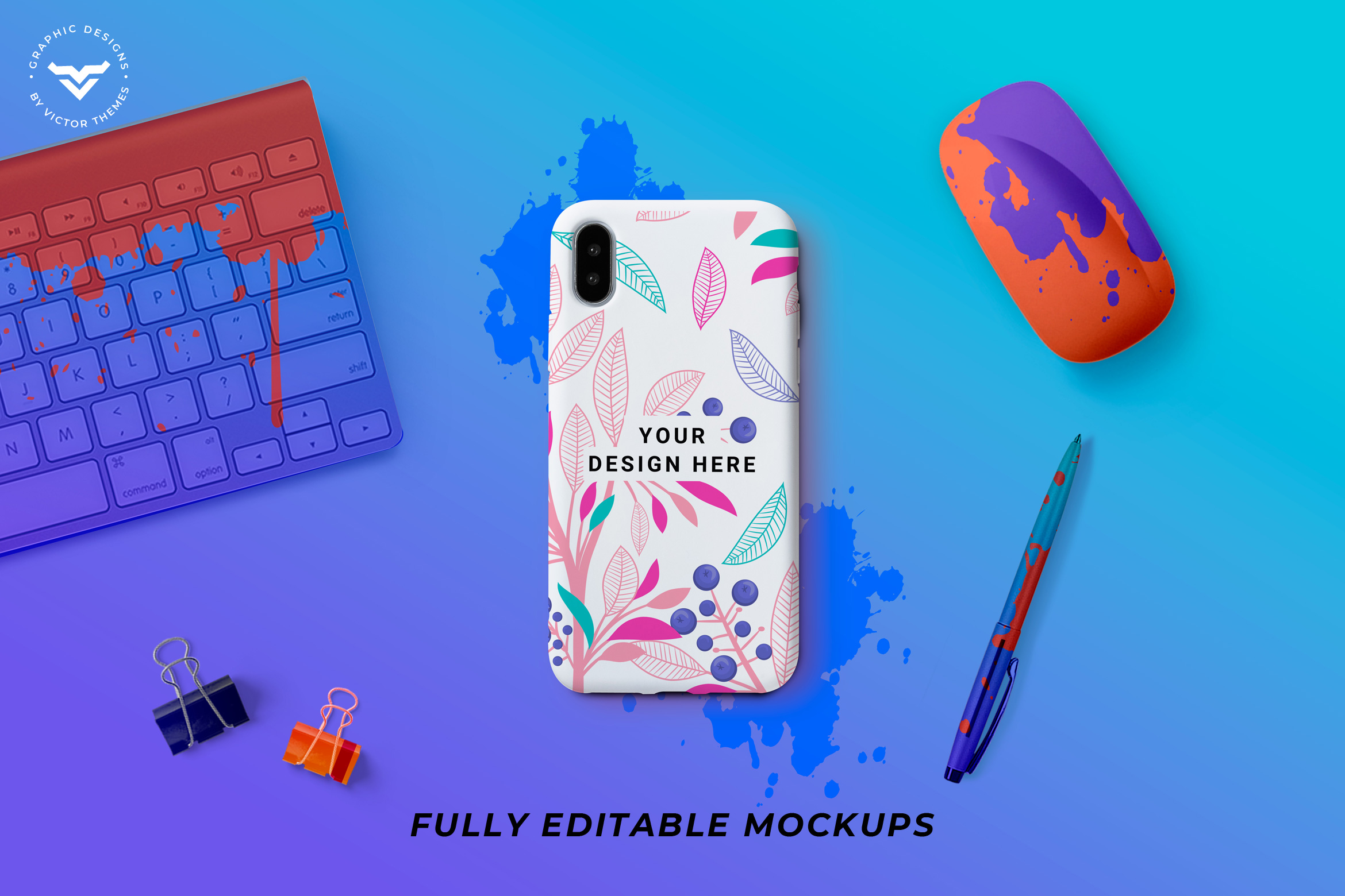 Mobile Cover Mockup Template