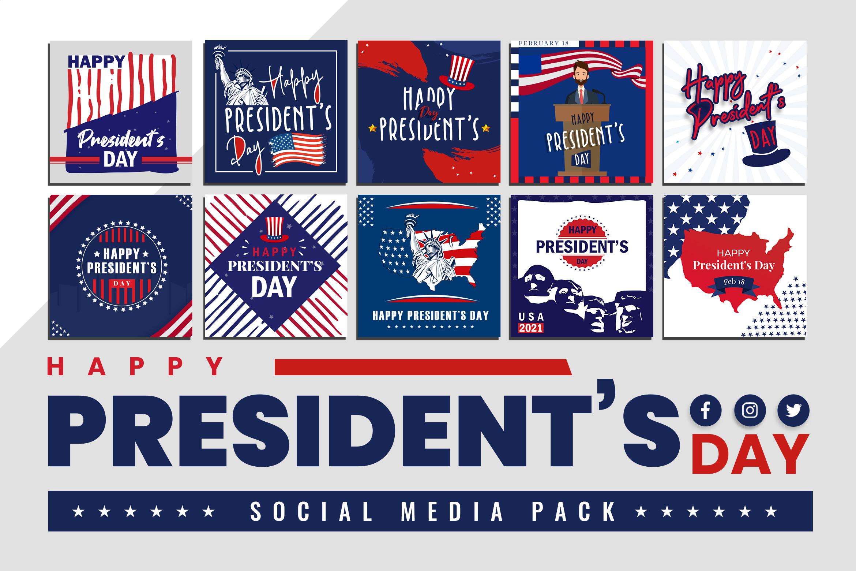 Presidents' Day Social Media Pack