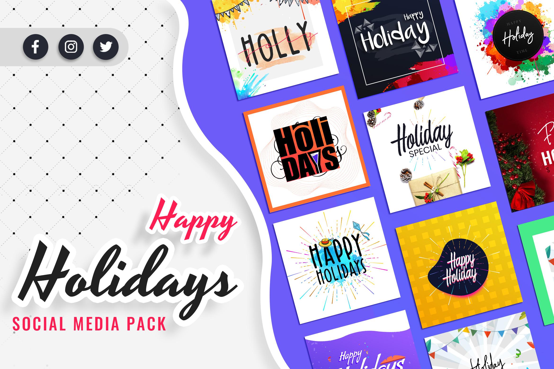 Holiday Social Media Post Templates