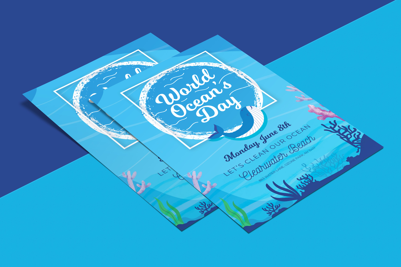 Ocean Day Flyer Template