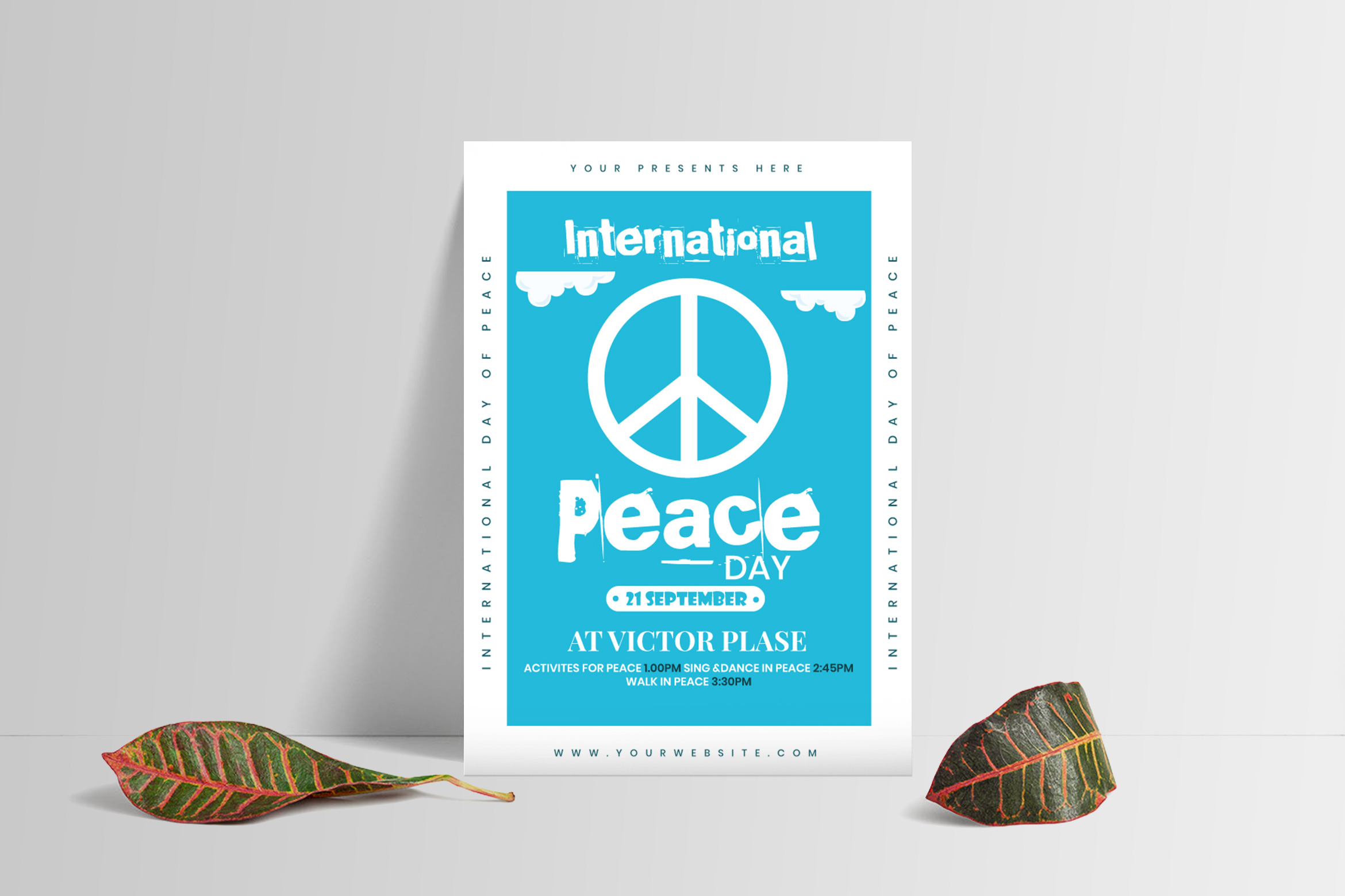 Peace Day Flyer Template