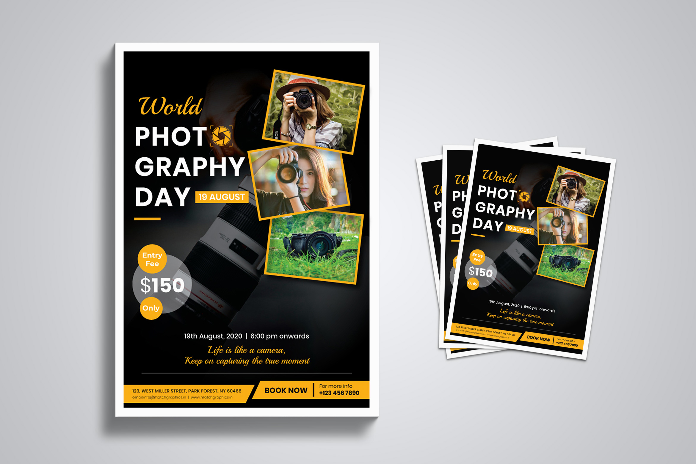 World Photography Day Flyer Template