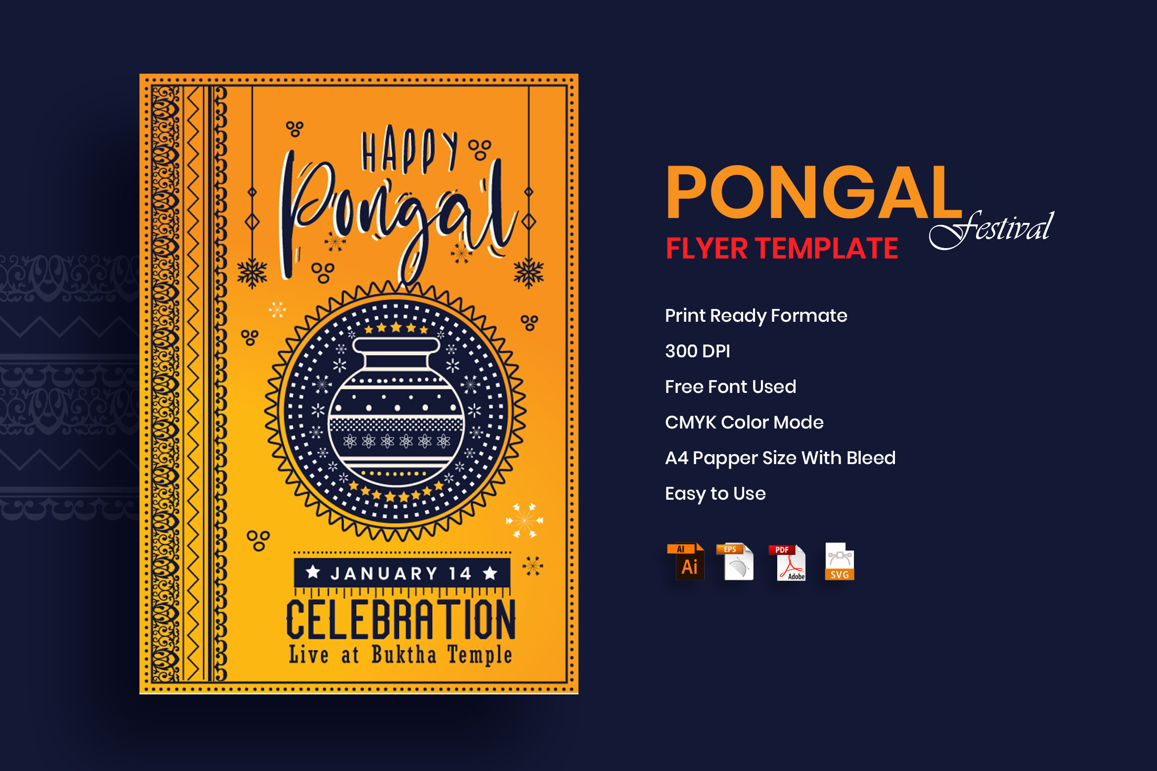Pongal Flyer Template