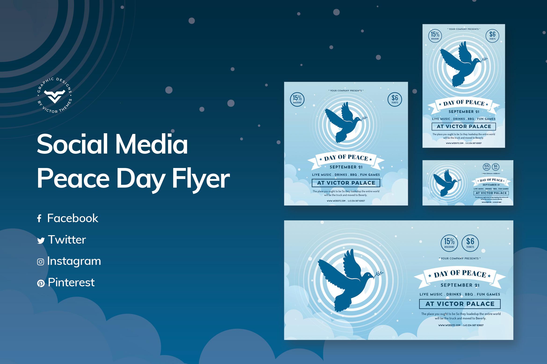 Peace Day Social Media Template