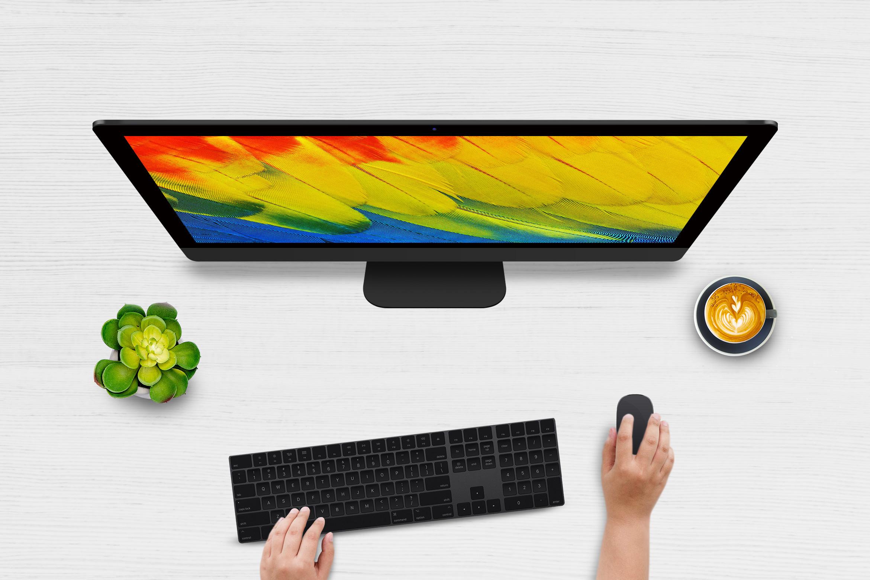 Top View Desktop Mockups