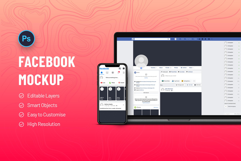 Facebook Mobile & Desktop Screen