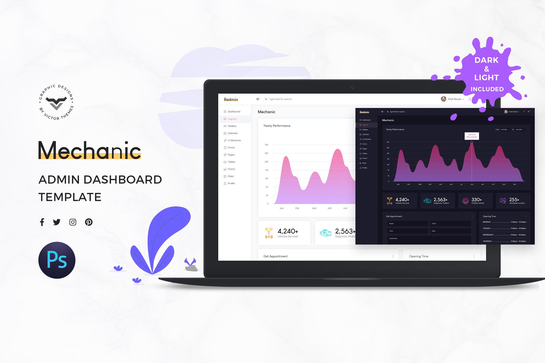 Mechanic Admin Dashboard UI Kit